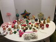 Huge Lot Of Vintage/antique Christmas Decorations And Ornaments