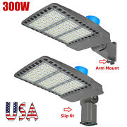 300w Led Parking Lot Shoebox Security Light With Choice Of Mounting Types Etl