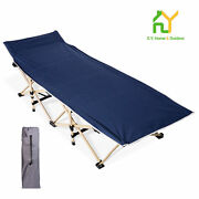 Folding Bed Camping Cot Portable Folding Bed Suitable Camping Cot Navy