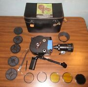 Krasnogorsk 16mm Film Camera + Zoom Lens, Filters, Case Used In Great Condition