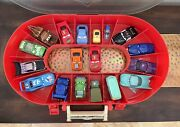 Disney Pixar Cars Race Case And Track Complete Inc All 16 Matching Cars Plus 2