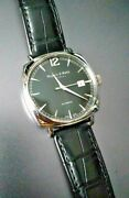 New Swiss Mappin And Webb Cushion Shape Gents Rare Strap Sapphire Glass Automatic