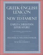 A Greek-english Lexicon Of New Testament And Other Early By Walter Bauer New