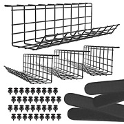 Under Desk Cable Management Tray - Under Desk Cable Organizer For Wire Desk Tray
