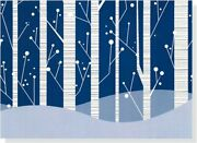 White Birches Holiday Boxed Cards Christmas Cards, By Peter Pauper Staff New