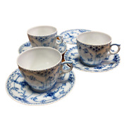 Royal Copenhagen Coffee Cup And Saucer 3 Customers + 1 Plate