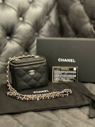 Nwt 21s Classic Small Vanity With Chain Black Caviar With Gold Crossbody