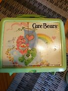 1983 Care Bears Plastic Lunch Box Aladdin 80and039s With Thermos