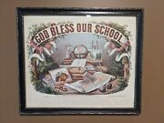 Currier And Ives God Bless Our School Framed Print