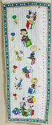 Vintage Peanuts Snoopy Charlie Brown Fabric Wall Growth Chart Double Sided