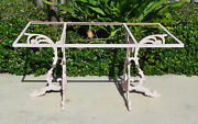 Vintage Heavy Wrought Iron Dining Table