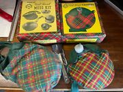 Vintage Girl Scout Canteen, Mess Kit And Utensil Set With Gs Logo