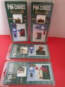 1996 Atlanta Olympic Games 4 Pin-cards Athletes In Motion Brand New