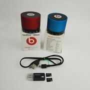 Beatbox Mini Bluetooth Speaker Beats Dr Dre Monster Lot 2 W Cable And 2 Micro Sd