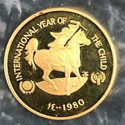 1972 Etheopia 400 Birr Year Of The Child Gold Coin Proof Rare - Q16