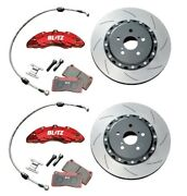 Blitz Front Big Brake Kit For Vellfire Anh20w Anh25w 2008may-2015jan Street Pads