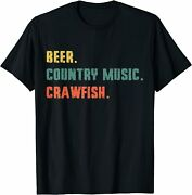 Beer. Country Music. Crawfish. Funny Vintage Retro T-shirt