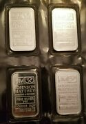 Johnson Matthey Assayers And Refiners Sealed 1 Troy Ounce Fine Silver Bars