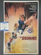 Director Richard Donner Signed Goonies 11x17 Movie Poster Photo Blue 1 Bas Coa