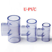 U-pvc 3-way Water Supply Pipe Fitting Adapter Connector 20-110mm Id Transparent