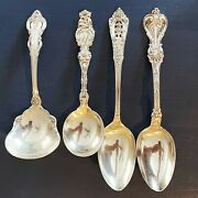 Vintage Sterling Silver Large Serving Spoons Silverware Mix Lot - Towle 267g