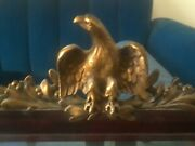 Rare 19th C. Federal Mirror W/glorious Gilded Eagle, Finest Early Colonial Item