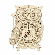 Rokr 3d Wooden Puzzle Owl Clock Kit Model Kits To Build For Adults Unique Gif...