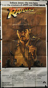 Raiders De The Lost Ark 1981 Authentique 41x81 3-sheet Film Poster Harrison Ford