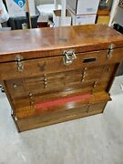 Gerstner Oak 062 Machinist Wood Tool Chest Box Set With Matching 062 Base