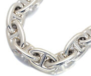 Auth Hermes Bracelet Chaine Dand039ancre Mm 17 Pieces Sterling Silver 925