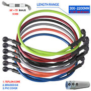 300-2200mm 28anddeg-75anddeg Braided Motorcycle Brake Line Hose Oil Clutch Pipe Cable Rear
