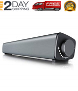 Computer Speakers Usb Powered Stereo Wired Mini Sound Bar With 3.5mm Headphone O