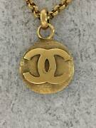 Necklace Gld With Top Coco Mark 29 Stamp Old Secast