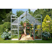 Greenhouse 2 Vent Windows Steel Base Clear Polycarbonate 8' X 12'