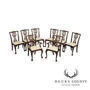 Councill Chippendale Style Set 8 Mahogany Ball And Claw Dining Chairs