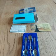 3 Heritage Collection American State Spoons Centennial Hawaii Washington Jt