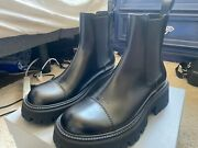 Authentic Balenciaga Tractor Leather Bootie - Smooth Black