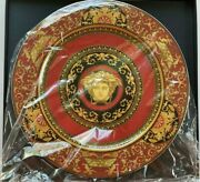Rosenthal Versace Medusa Red 5 Pieces Charger 12 30cm. Authentic Versace.@@@@@@