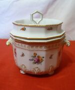Nymphenburg Bavaria Perl Pearl 982 Flowers 3pc Caviar And Ice Holder Cache Pot