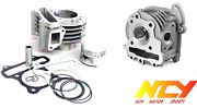 Ncy Performance Cylinder Head Assembly 50mm 81cc Kit 49 50cc Qmb Scooter Moped