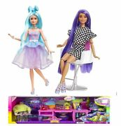 Barbie Extra Deluxe And Vanity Set Two Dolls