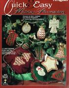 Quick And Easy Holiday Pin-weaving 11 Patterns For Gifts By Sheri Caldwell Vg+