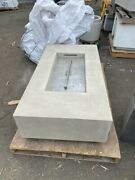 High End Concrete Fire Table - Fire Pit - Fire Feature, New Open Box, Look