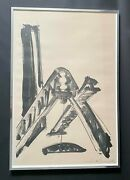 Mid Century Modern Mark Di Suvero Signed Abstract Lithograph 6/26 1970s