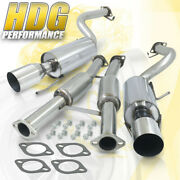 Jdm Racing Steel Dual Cat Back Exhaust System For 90-96 300zx 2-seater Vg30de V6