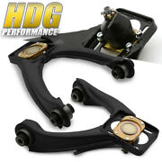Performance Front Upper Adjustable Camber Control Arm Kit Black For 96-00 Civic