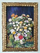 Vincent Van Gogh Oil On Canvas Painting Signed And Stamped Framed