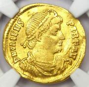 Ancient Roman Valens Av Solidus Gold Coin 364-378 Ad - Certified Ngc Vf