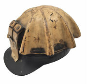 Vintage Turtle Shell Coal Miners Helmet Hat Mining Hard Cap Yellow Safety