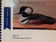 Miniature Decoy Patterns Blue Ribbon Pattern By William Veasey Mint Condition